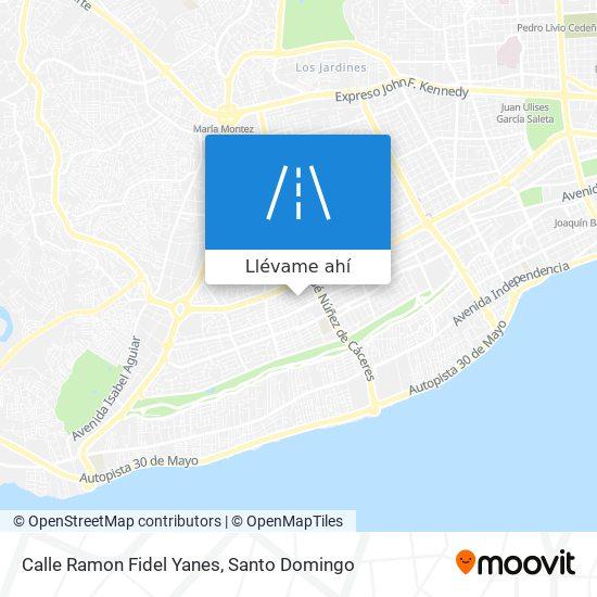 Mapa de Calle Ramon Fidel Yanes