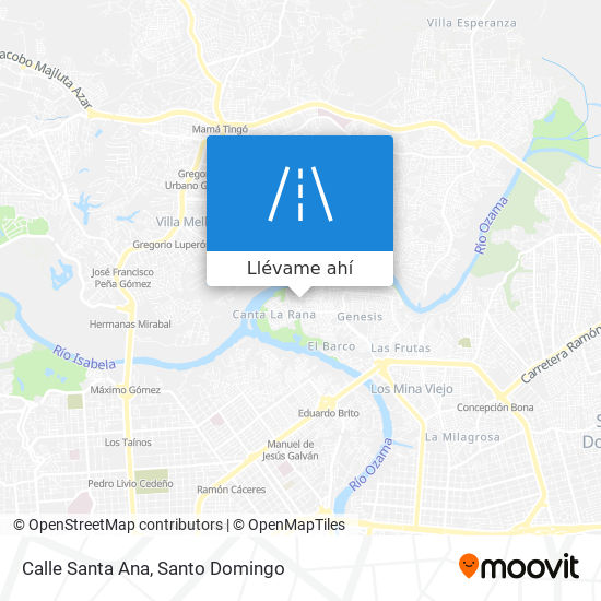 Mapa de Calle Santa Ana