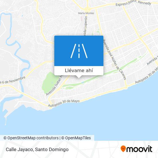 Mapa de Calle Jayaco
