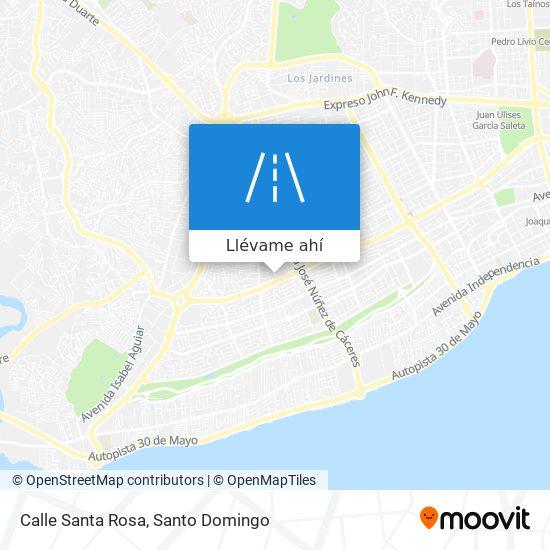 Mapa de Calle Santa Rosa