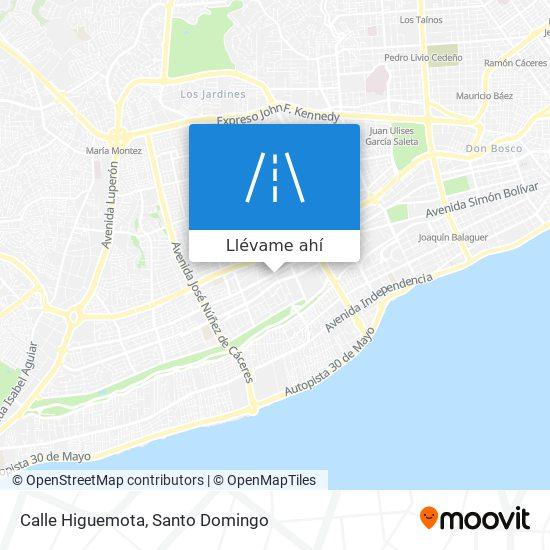 Mapa de Calle Higuemota