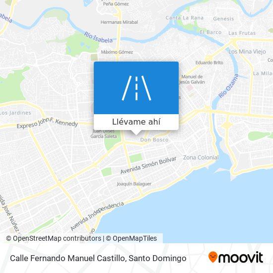 Mapa de Calle Fernando Manuel Castillo