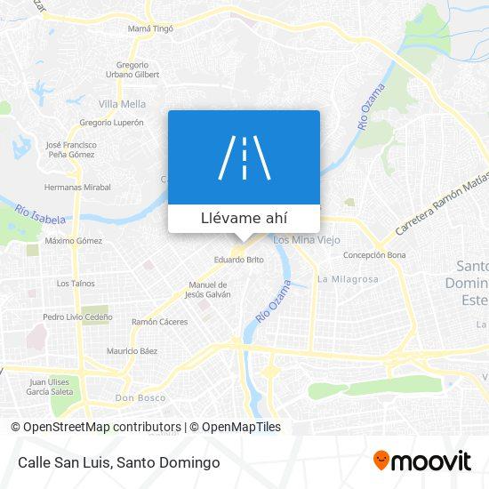 Mapa de Calle San Luis