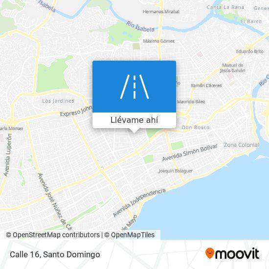 Mapa de Calle 16