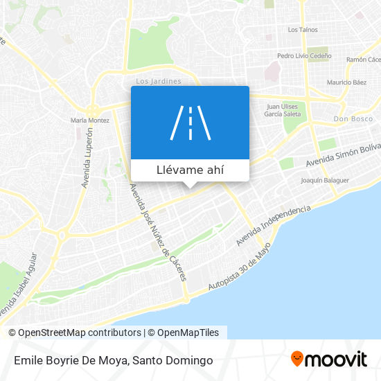 Mapa de Emile Boyrie De Moya
