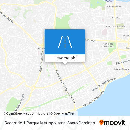 Mapa de Recorrido 1 Parque Metropolitano