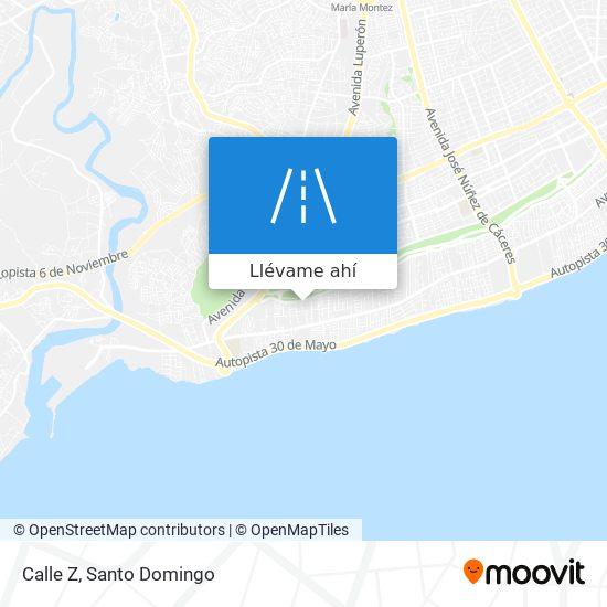Mapa de Calle Z