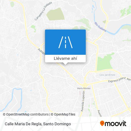 Mapa de Calle Maria De Regla