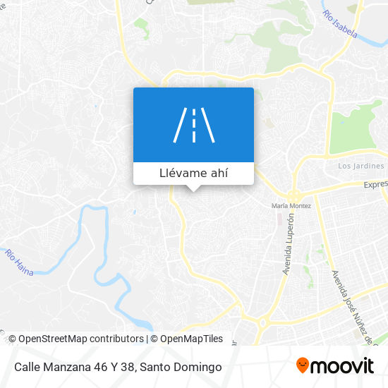 Mapa de Calle Manzana 46 Y 38