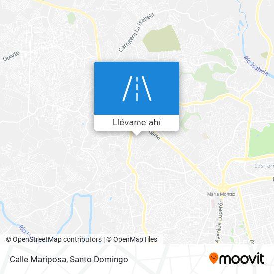 Mapa de Calle Mariposa