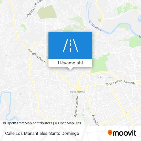 Mapa de Calle Los Manantiales