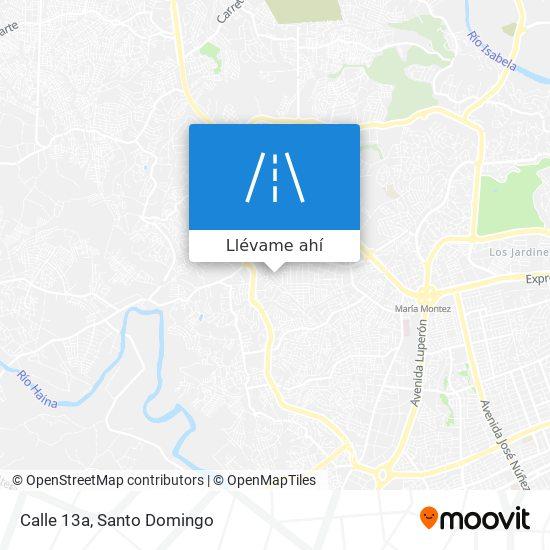 Mapa de Calle 13a