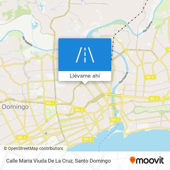 Mapa de Calle Maria Viuda De La Cruz