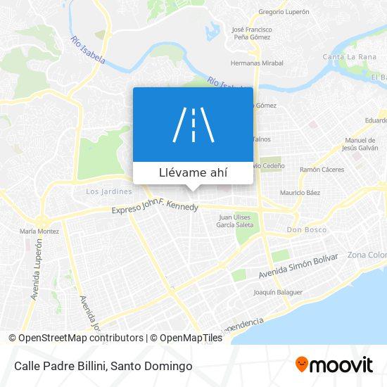 Mapa de Calle Padre Billini