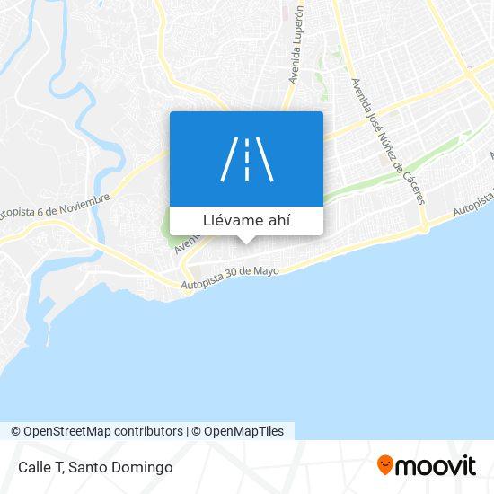 Mapa de Calle T