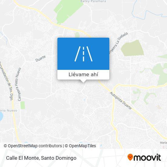 Mapa de Calle El Monte