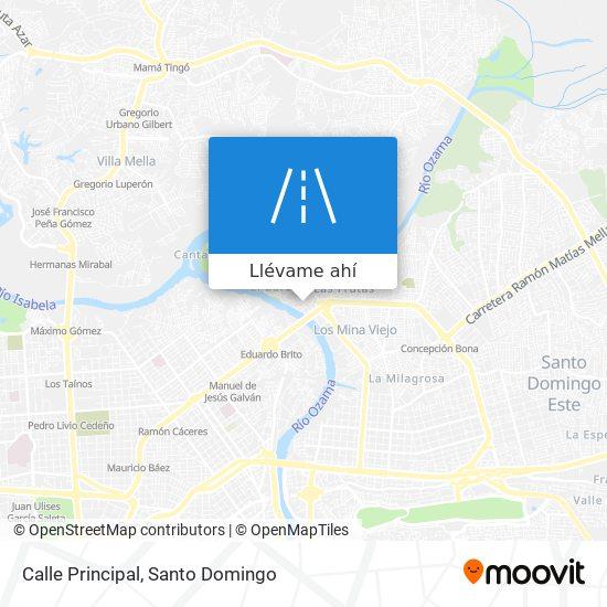 Mapa de Calle Principal