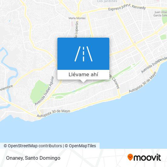 Mapa de Onaney