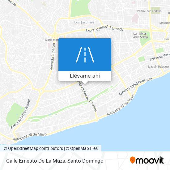 Mapa de Calle Ernesto De La Maza