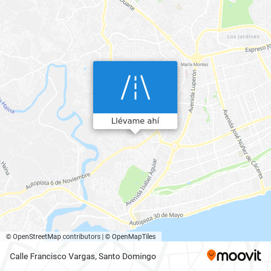 Mapa de Calle Francisco Vargas