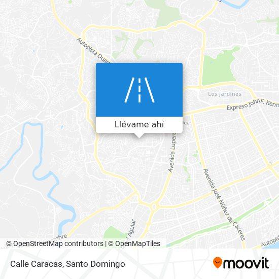 Mapa de Calle Caracas
