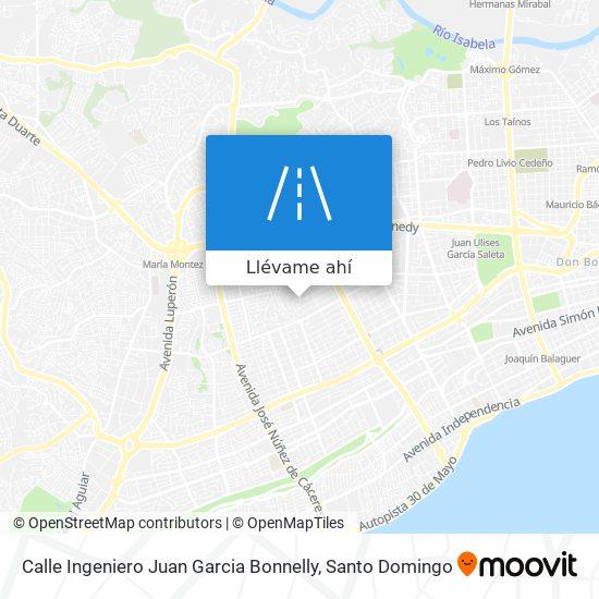 Mapa de Calle Ingeniero Juan Garcia Bonnelly