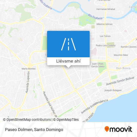Mapa de Paseo Dolmen