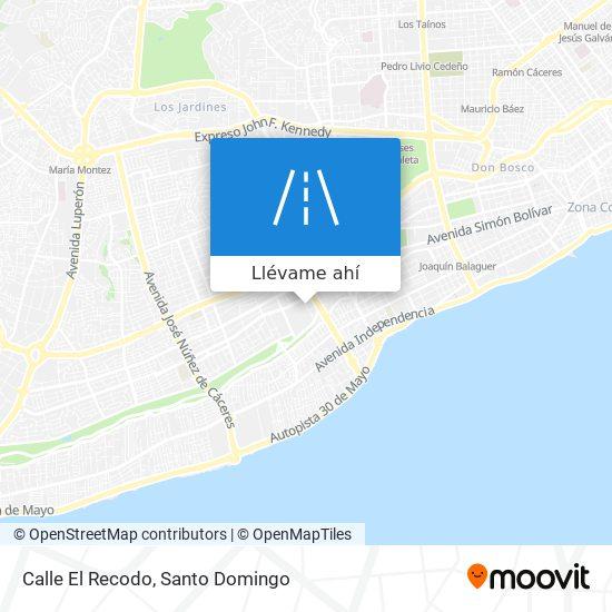 Mapa de Calle El Recodo