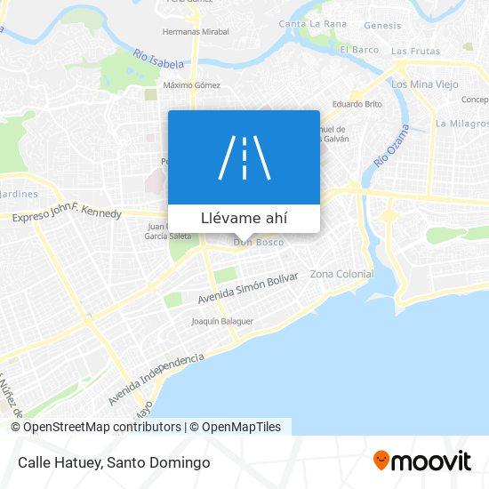 Mapa de Calle Hatuey