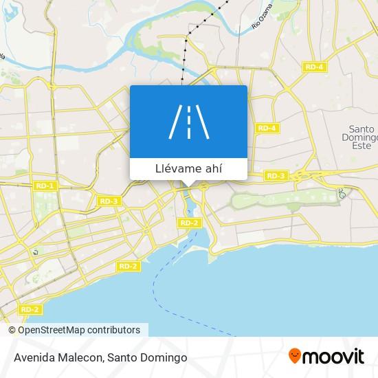 Mapa de Avenida Malecon