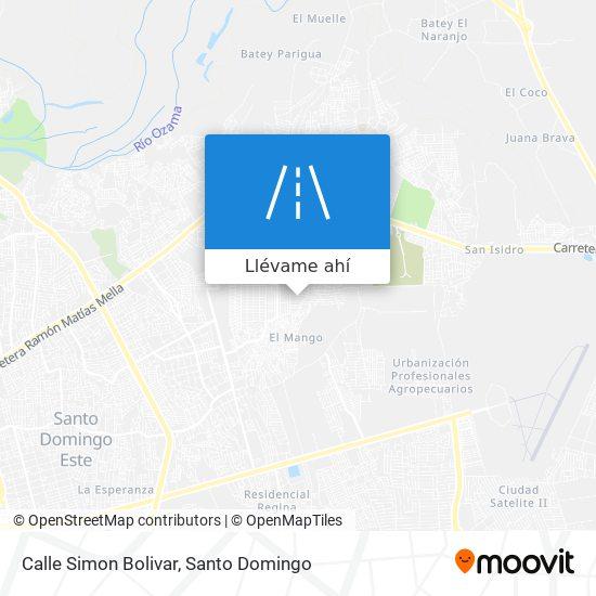Mapa de Calle Simon Bolivar