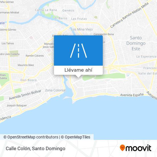 Mapa de Calle Colón