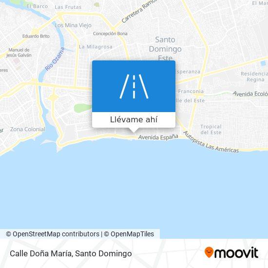 Mapa de Calle Doña María