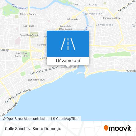 Mapa de Calle Sánchez