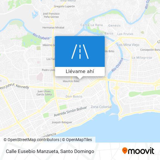 Mapa de Calle Eusebio Manzueta