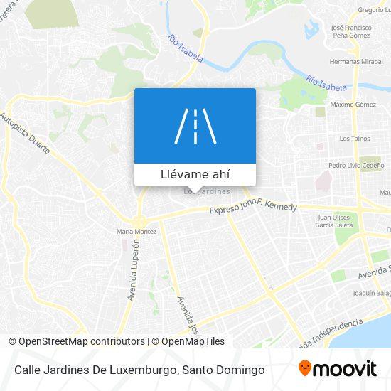 Mapa de Calle Jardines De Luxemburgo