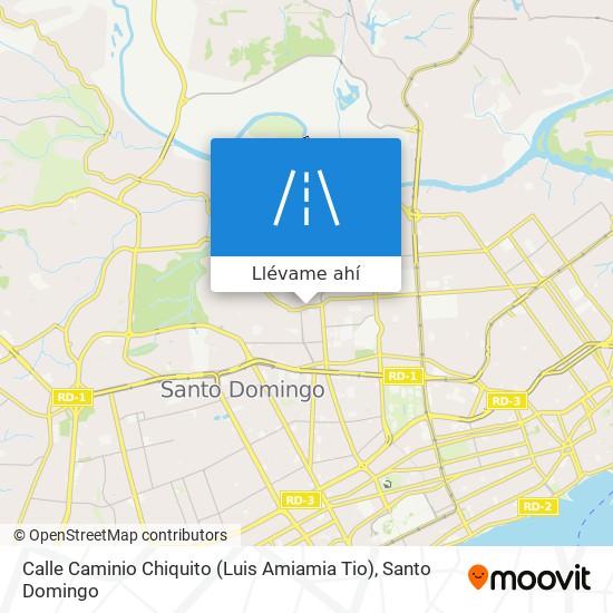 Mapa de Calle Caminio Chiquito (Luis Amiamia Tio)