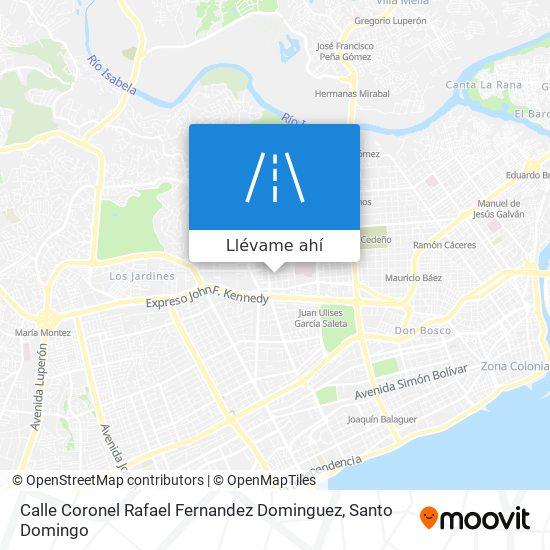 Mapa de Calle Coronel Rafael Fernandez Dominguez