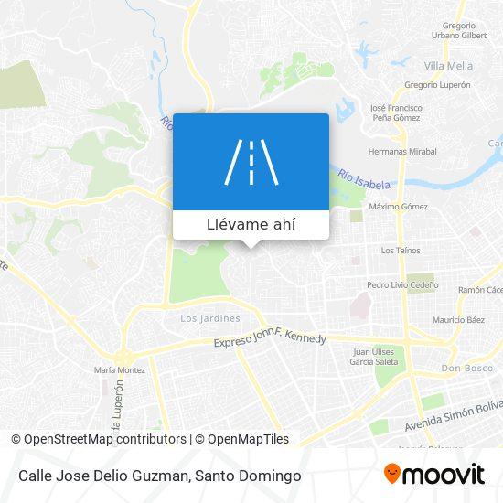 Mapa de Calle Jose Delio Guzman
