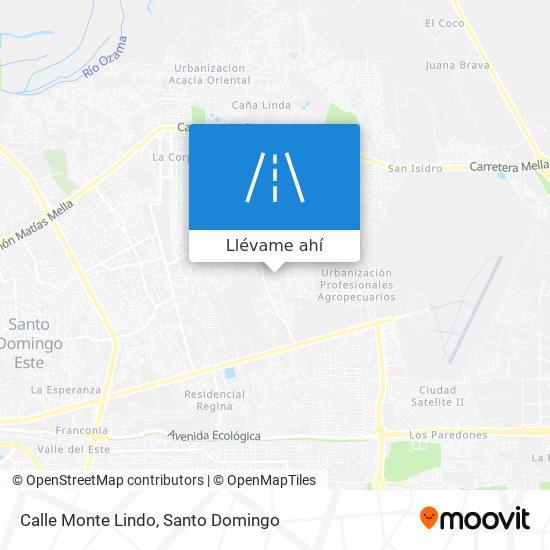 Mapa de Calle Monte Lindo
