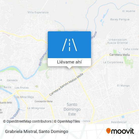 Mapa de Grabriela Mistral