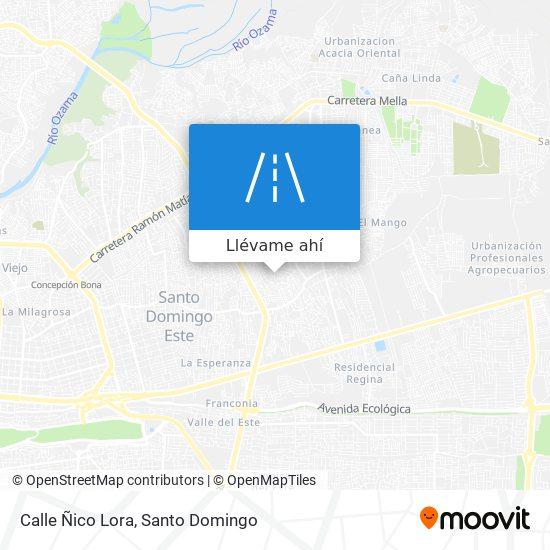 Mapa de Calle Ñico Lora