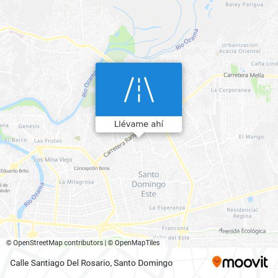 Mapa de Calle Santiago Del Rosario