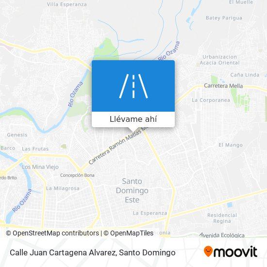 Mapa de Calle Juan Cartagena Alvarez
