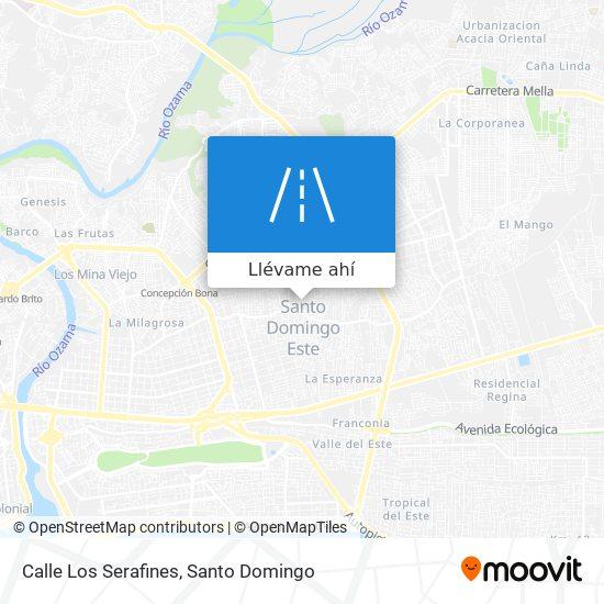 Mapa de Calle Los Serafines