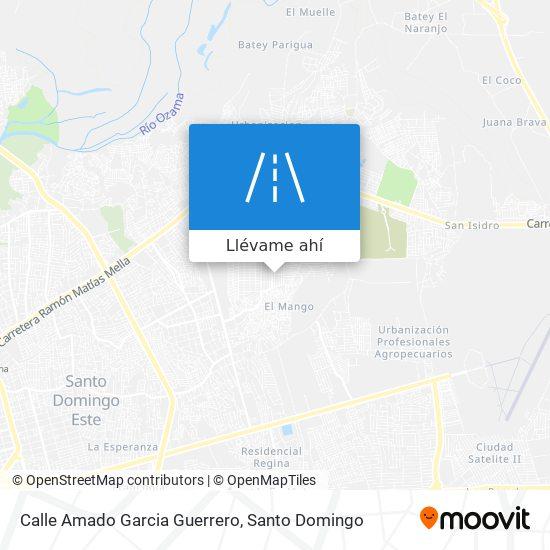 Mapa de Calle Amado Garcia Guerrero