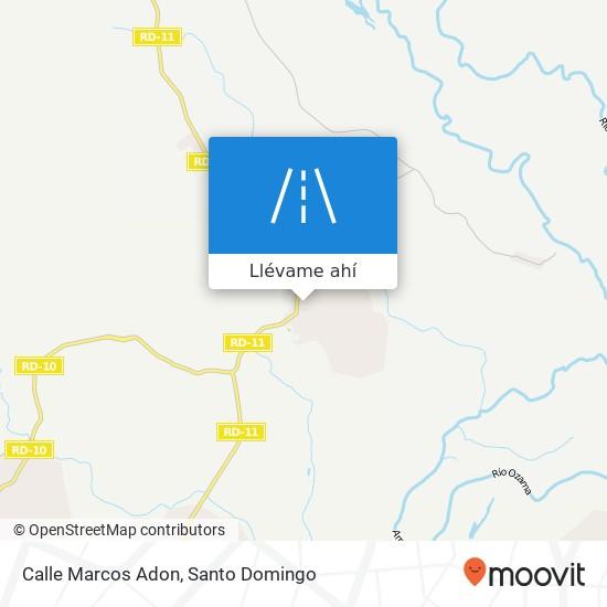 Mapa de Calle Marcos Adon