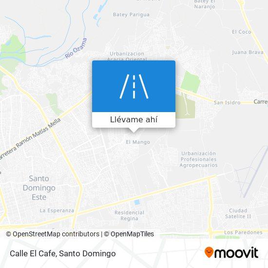 Mapa de Calle El Cafe