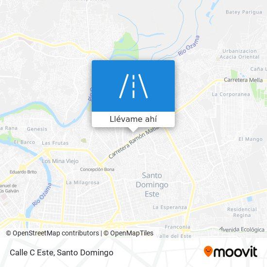 Mapa de Calle C Este