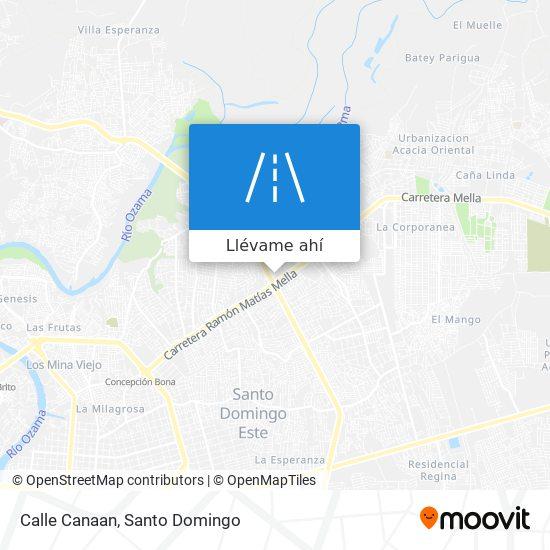 Mapa de Calle Canaan